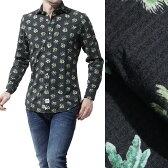 ハイドロゲン HYDROGEN ワイドカラーシャツ BLACK PALMS SHIRT BLACKPALMS グリーン系 200418 876 メンズ【ラッピング無料】【返品送料無料】【170419】【あす楽対応_関東】[outnew]