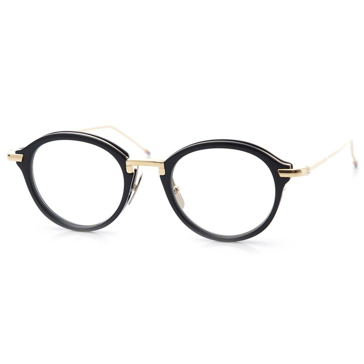 a2566e60e1ec トムブラウン THOM BROWNE. 眼鏡 メガネ ブルー メンズ 黒 tb 011 f nvy gld  オーバル あす楽対応 関東  返品送料無料  ラッピング無料