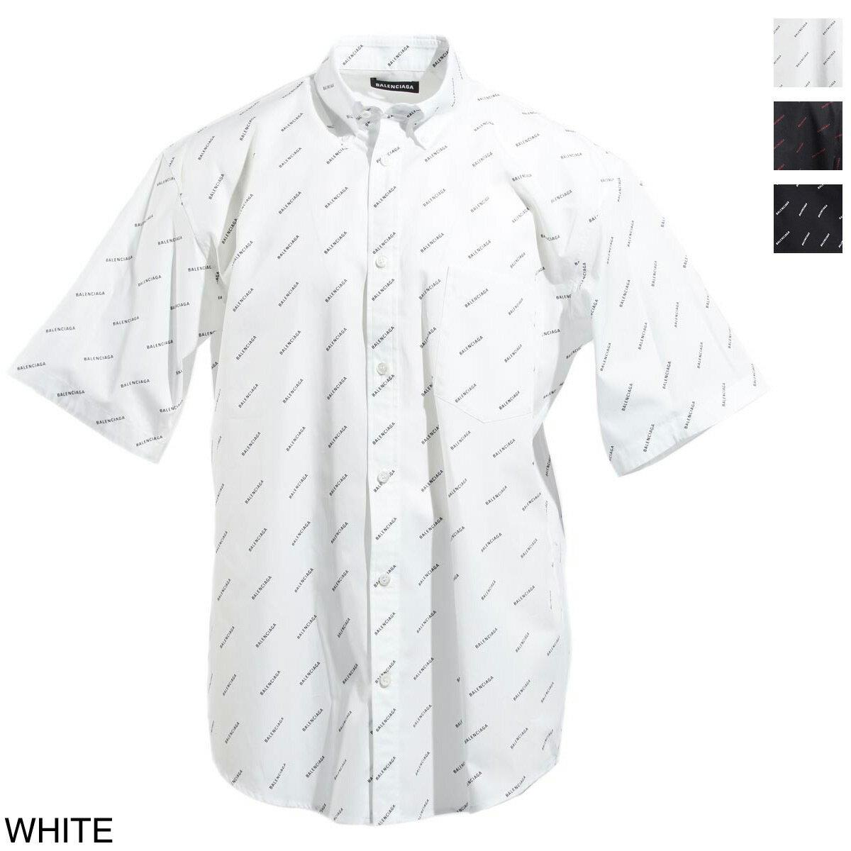 トップス, カジュアルシャツ  BALENCIAGA BD 534332 tbl96 9040 ALL OVER NORMAL FIT