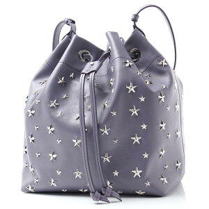[Outlet] Jimmy Choo JIMMY CHOO Shoulder bag Drawstring bag Purple Ladies Leather Genuine leather Gift present Star juno cst thistle JUNO [Free wrapping] [Free return shipping]