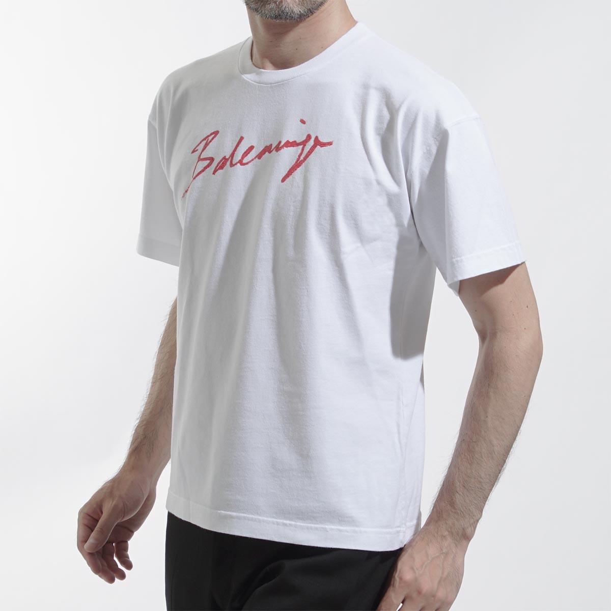 トップス, Tシャツ・カットソー  BALENCIAGA T 583212 tfv63 9783 SIGNATURE T-SHIRT NOMAL FIT190626
