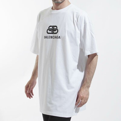 バレンシアガのロゴメンズTシャツ