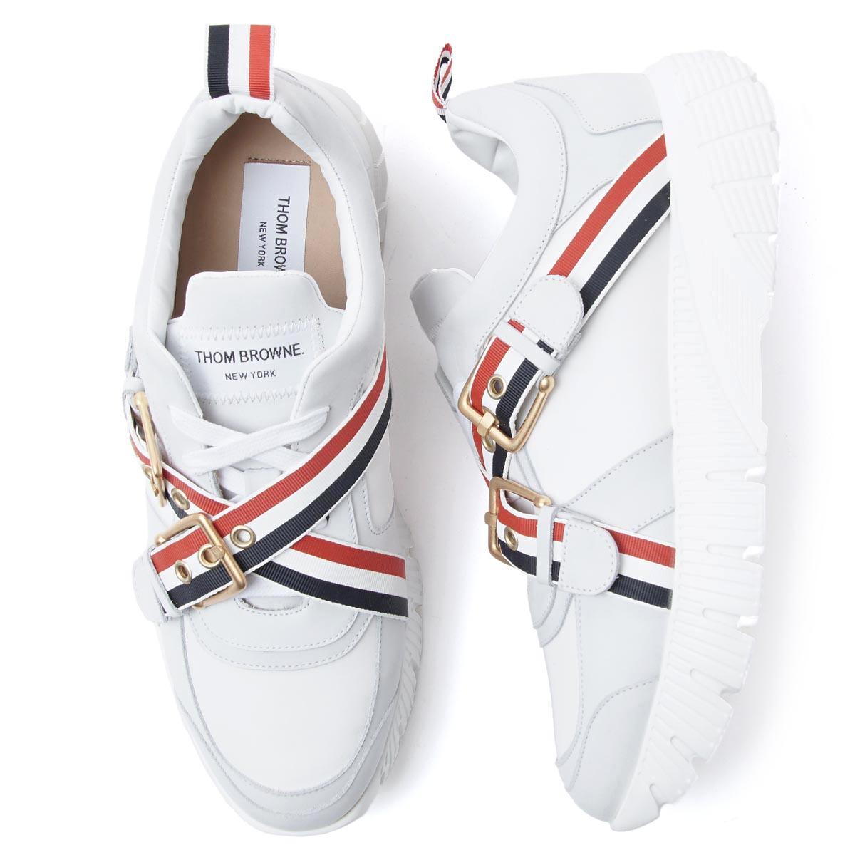 メンズ靴, スニーカー  THOM BROWNE. mfd130a 00618 100 RASED RUNNING SHOE190621