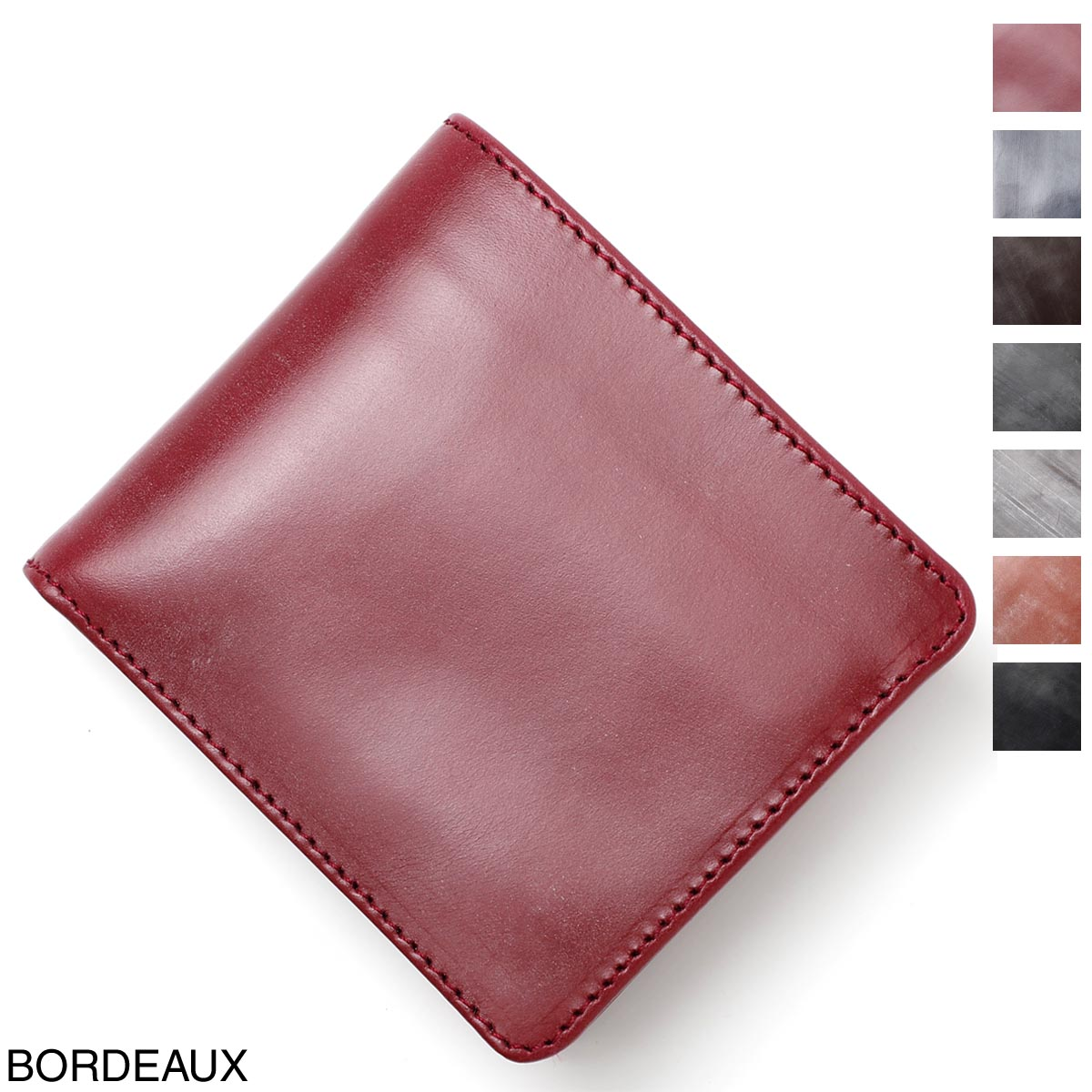 2つ折 bordeaux BRIDLE LEATHER WALLET