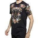 ドルチェガッバーナ DOLCEGABBANA クルーネック Tシャツ マルチカラー メンズ カジュアル トップス インナー 半袖 g8kbat hh71n hnqq6 FLOCK PRINT TEE【返品送料無料】【ラッピング無料】