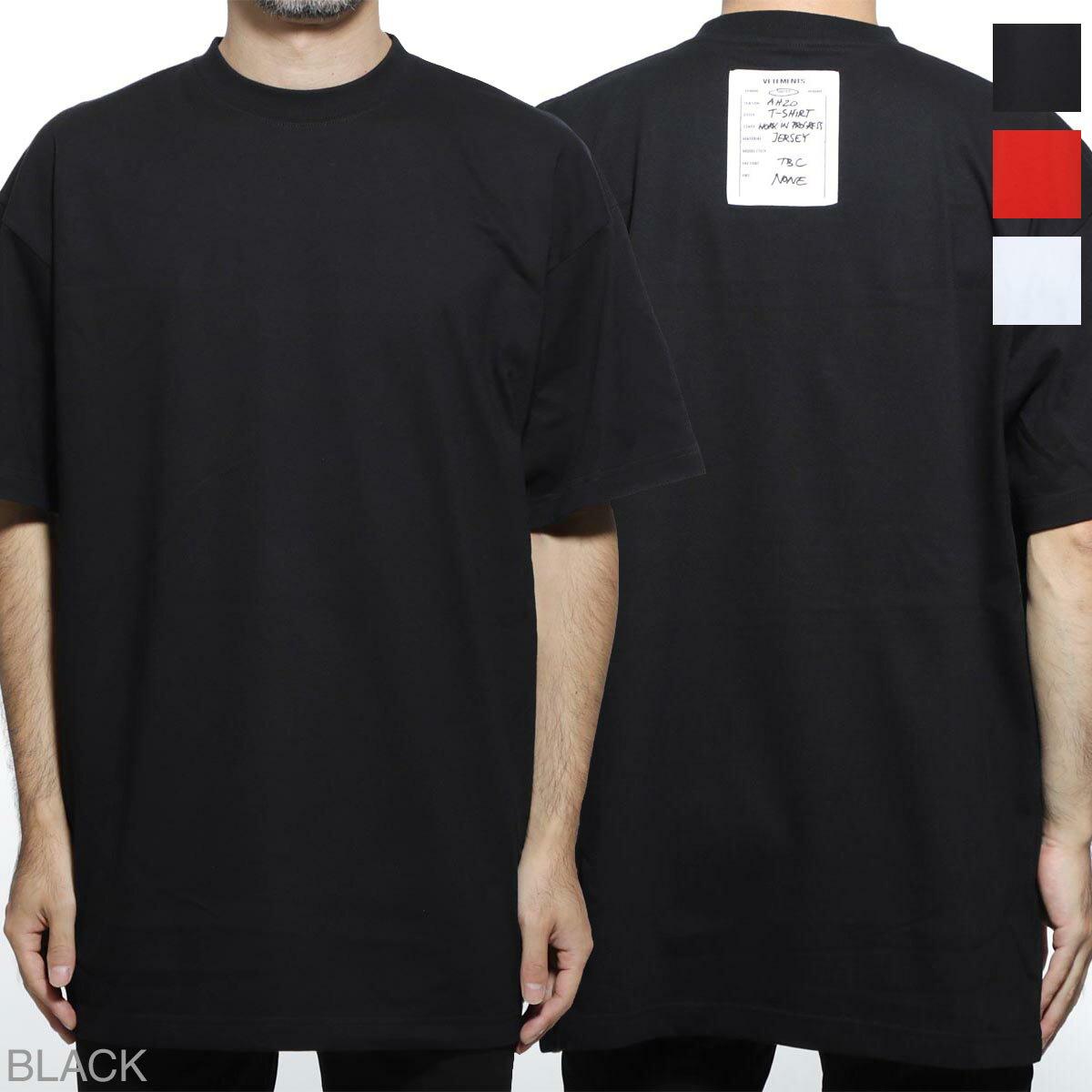 トップス, Tシャツ・カットソー  VETEMENTS T uah20tr636 black ATELIER PATCH T-SHIRT