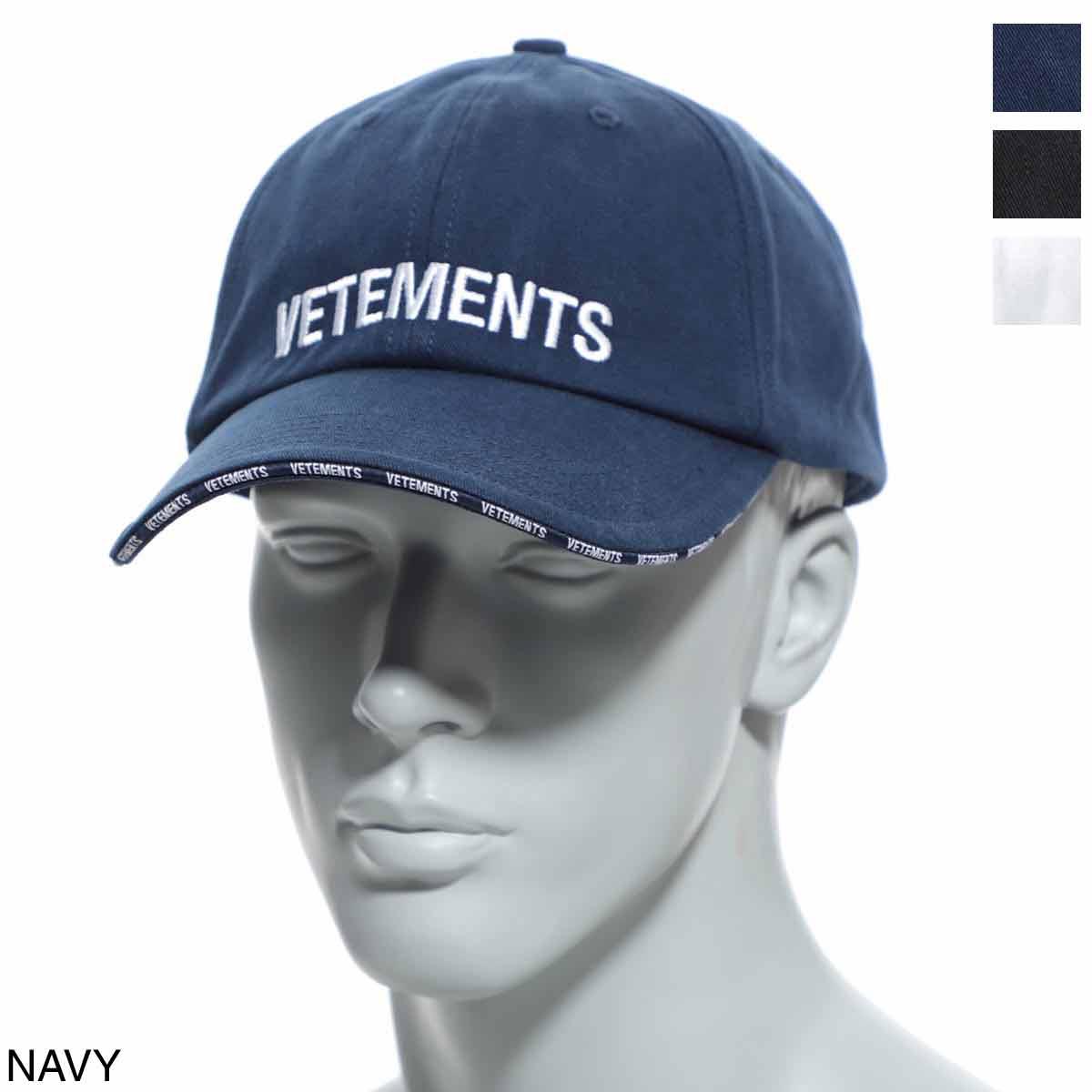 メンズ帽子, キャップ  VETEMENTS uah20ac610 navy Logo Cap