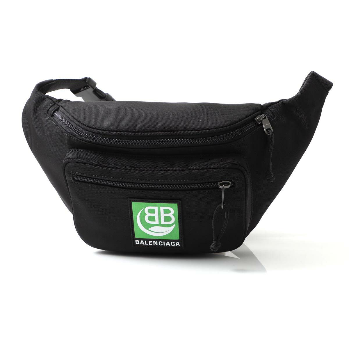 メンズバッグ, ボディバッグ・ウエストポーチ  BALENCIAGA 482389 9wba5 1000 EXPLORER BODY BAG GREEN LOGO