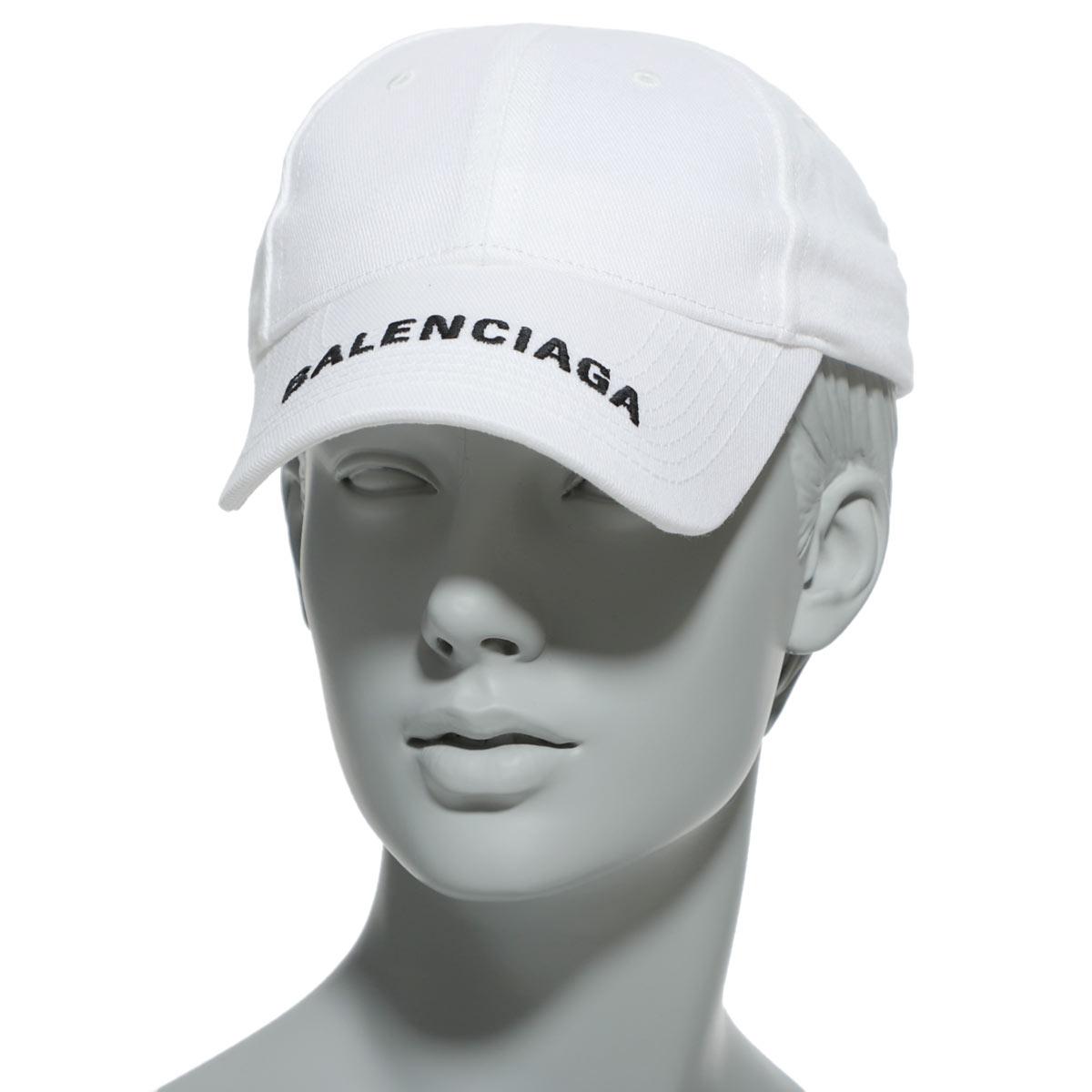 レディース帽子, キャップ  BALENCIAGA 531588 310b2 9060 HAT BALENCIAGA LOGO VISER CAP