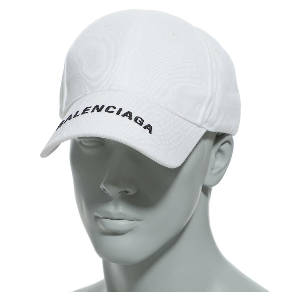 メンズ帽子, キャップ  BALENCIAGA 531588 410b2 9060 HAT BALENCIAGA LOGO VISER CAP