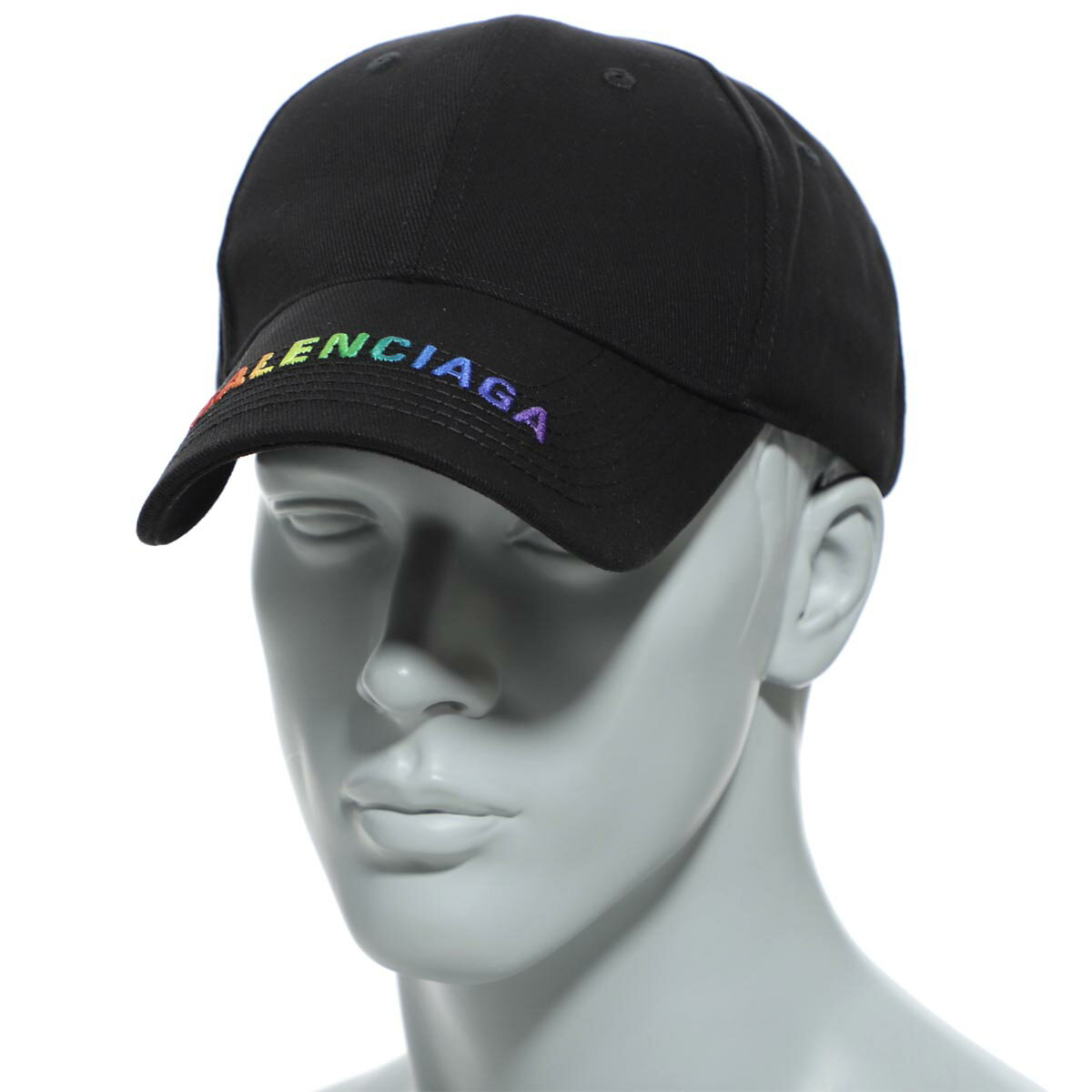 メンズ帽子, キャップ  BALENCIAGA 564206 410b2 1000 HAT RAINBOW VISER CAP