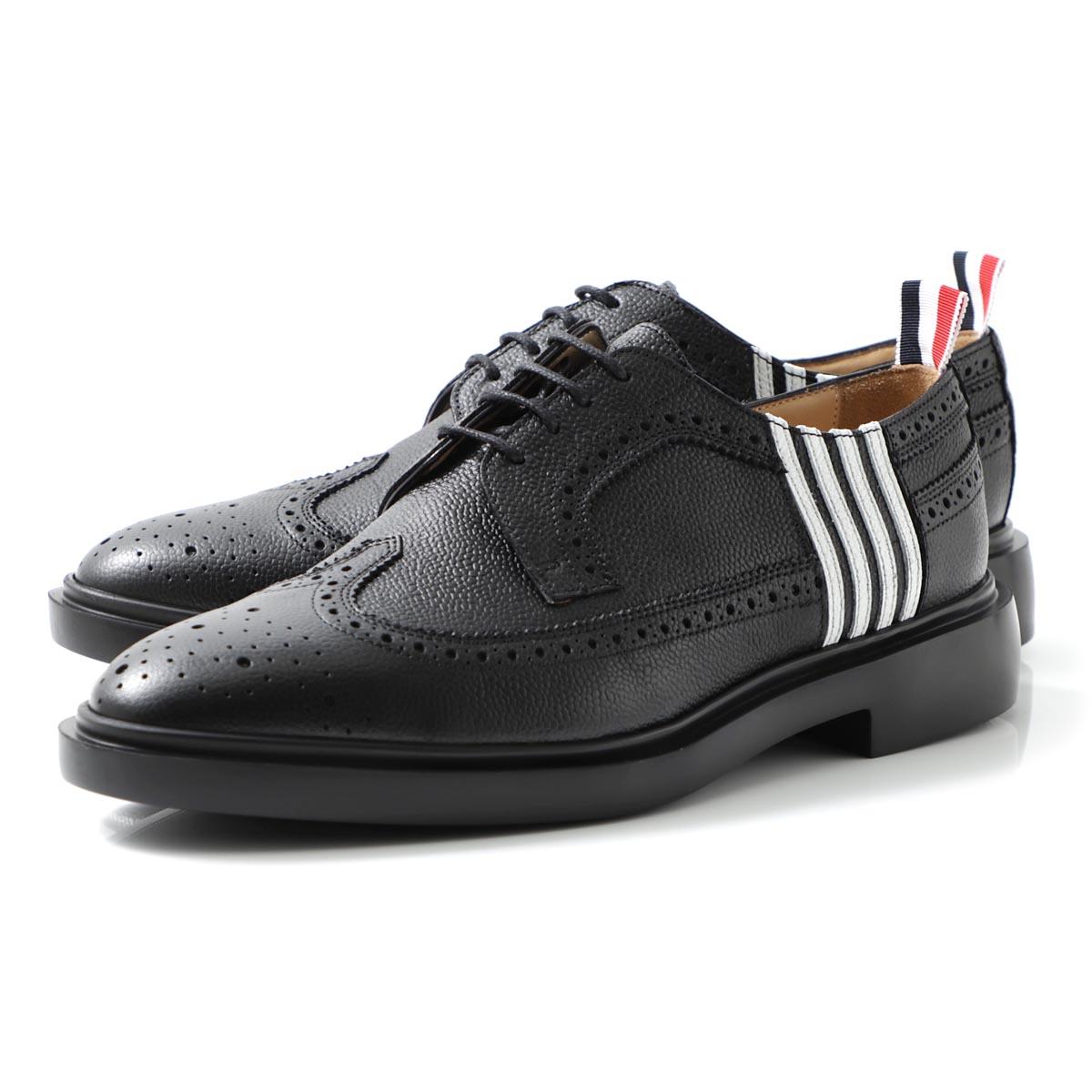 メンズ靴, その他  THOM BROWNE. mfd006a 00198 001 LONGWING BROGUE W APPLIQUE 4-BAR