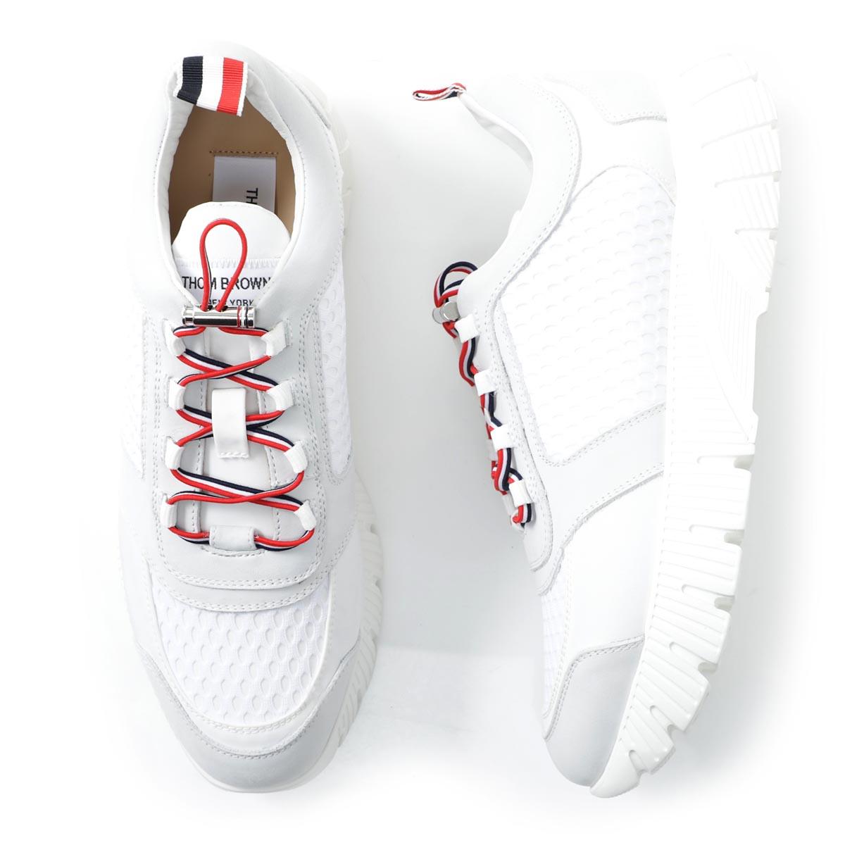 メンズ靴, スニーカー  THOM BROWNE. mfd139a 03193 100 RASED RUNNING SNEAKER
