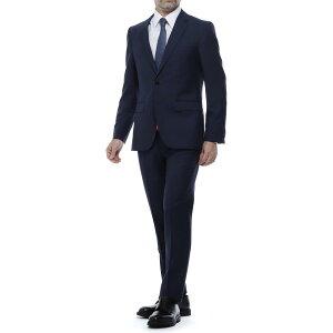 ヒューゴボス HUGO HUGOBOSS 2つボタンスーツ ブルー メンズ セットアップ ジャケット スラックス フォーマル ビジネス パーティ 大きいサイズあり JEFFRY/SIMMONS 182 REGULAR FIT レギュラーフィット【あす楽対応_関東】【返品送料無料】