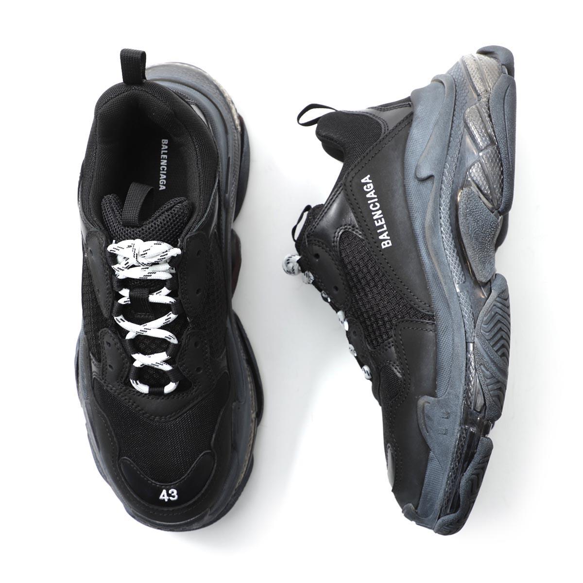 メンズ靴, スニーカー 1 BALENCIAGA 541624 w09o1 1000 TRIPLE S CLEAR SOLE TRAINER