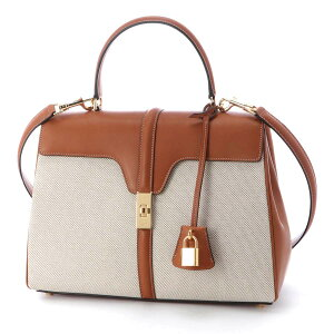Celine CELINE Handbag 2WAY Brown Women's 18737 2caf 04lv 16 Sez MEDIUM [Kanto for tomorrow music] [Free shipping for returns] [Free wrapping]