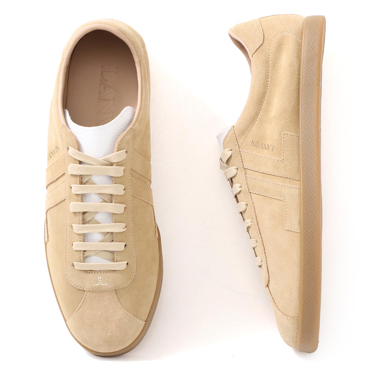 メンズ靴, スニーカー  LANVIN fm skdlon vesu a20 05 SUEDE GLEN LOW TOP SNEAKERS