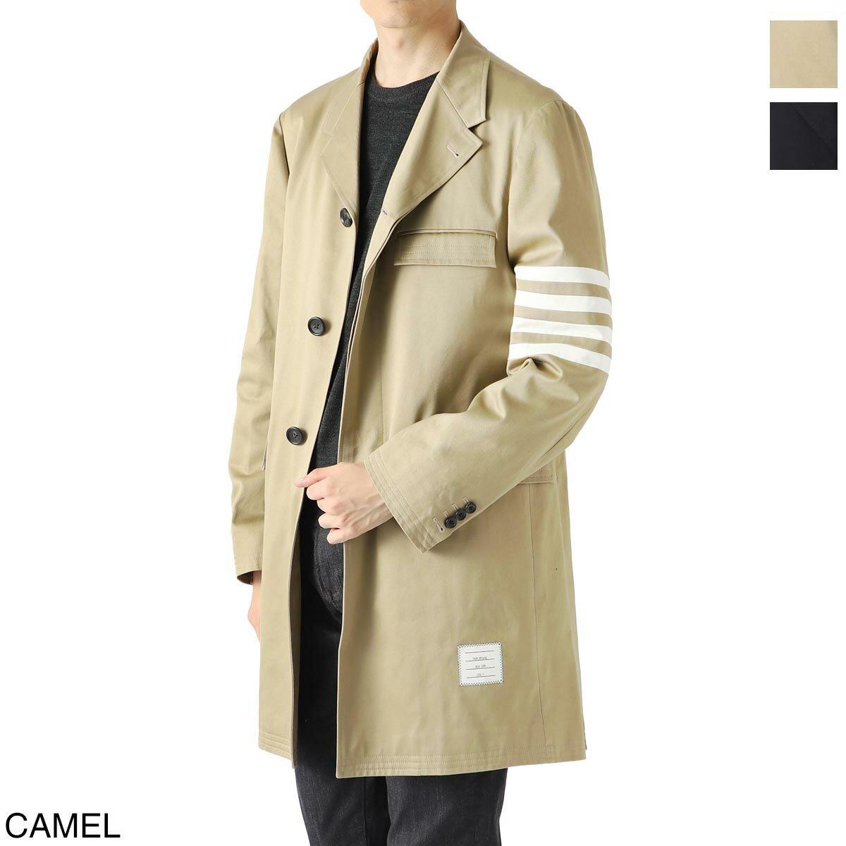 メンズファッション, コート・ジャケット  THOM BROWNE. mou543a 03788 275 UNCONSTRUCTED 4-BAR STRIPE CLASSIC CHESTERFIELD OVERCOAT