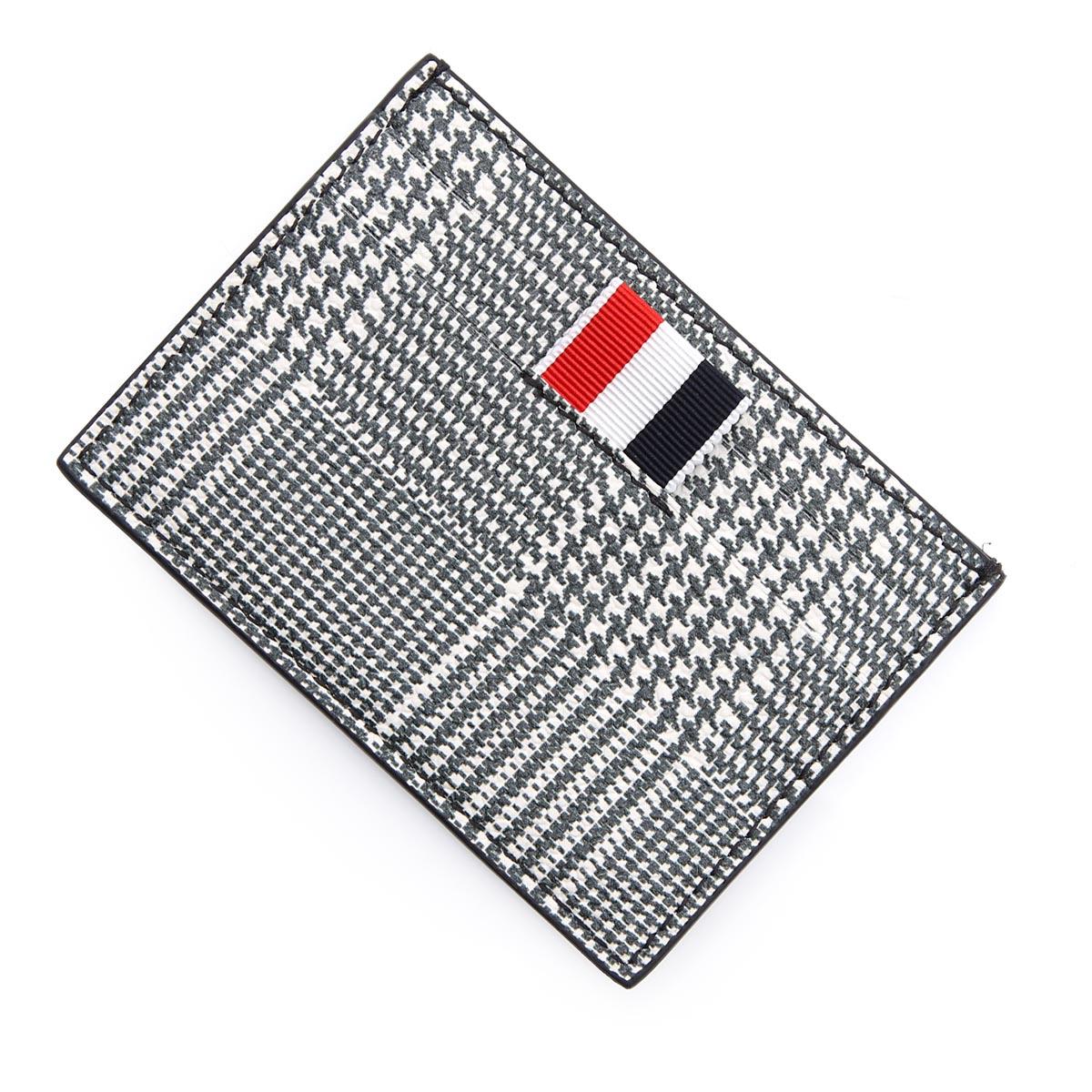 財布・ケース, クレジットカードケース  THOM BROWNE. maw020b 06741 980 PRINCE OF WALES PRINT SINGLE 4-BAR CARD HOLDER