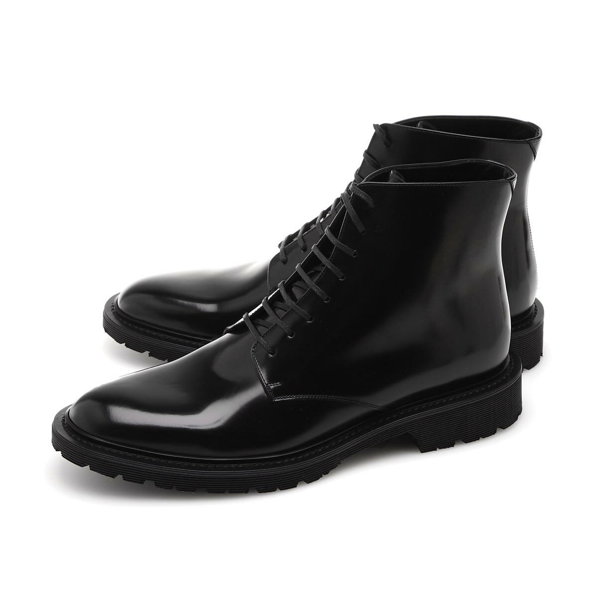 メンズ靴, その他  SAINT LAURENT PARIS 632364 1y000 1000 ARMY LACED BOOTS IN SMOOTH LEATHER