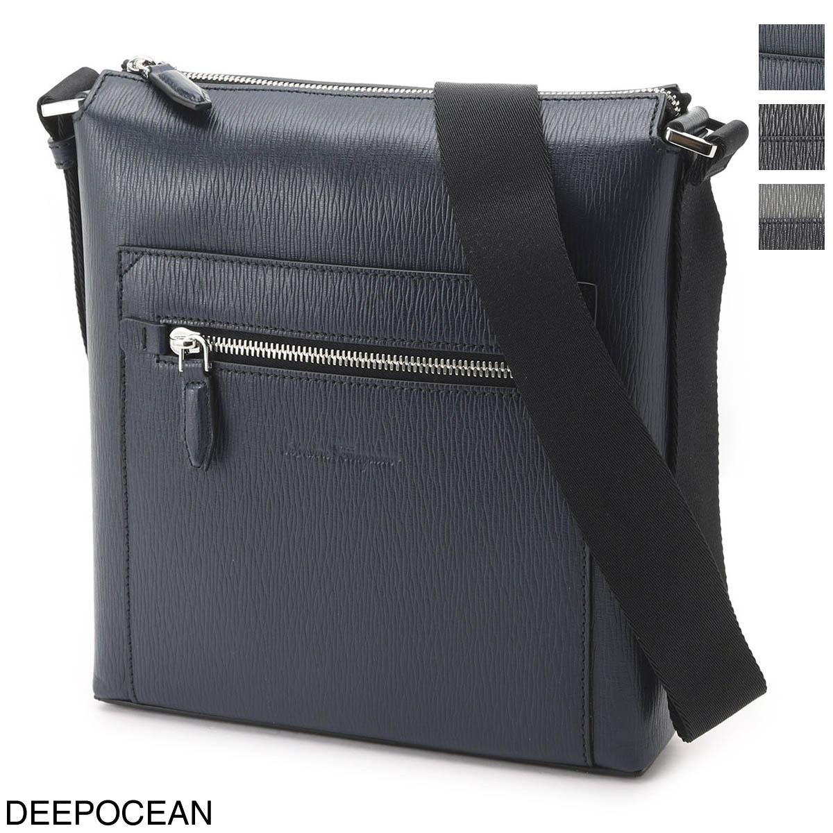 メンズバッグ, ショルダーバッグ・メッセンジャーバッグ  Salvatore Ferragamo REVIVAL 3.0 24a516-0732518-grigio-nero