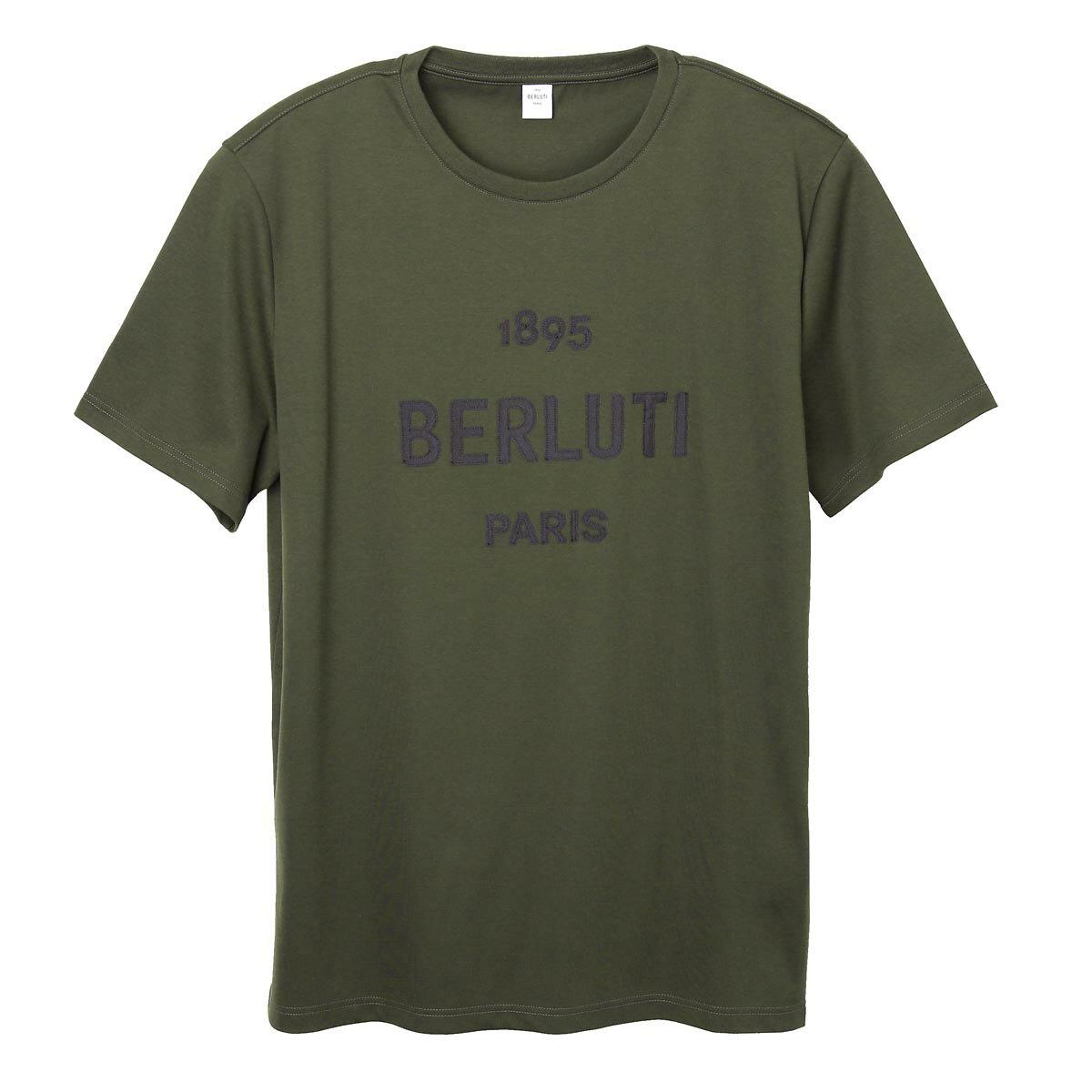 トップス, Tシャツ・カットソー 1 BERLUTI T r18jrs50 001 h10 T-SHIRT W EMBROIDERED LOGOoutnew