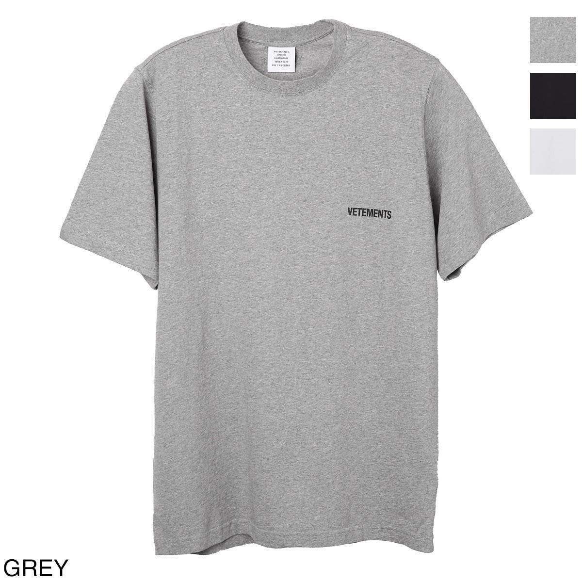 トップス, Tシャツ・カットソー  VETEMENTS T uah21tr501 grey LOGO FRONT BACK T-SHIRT