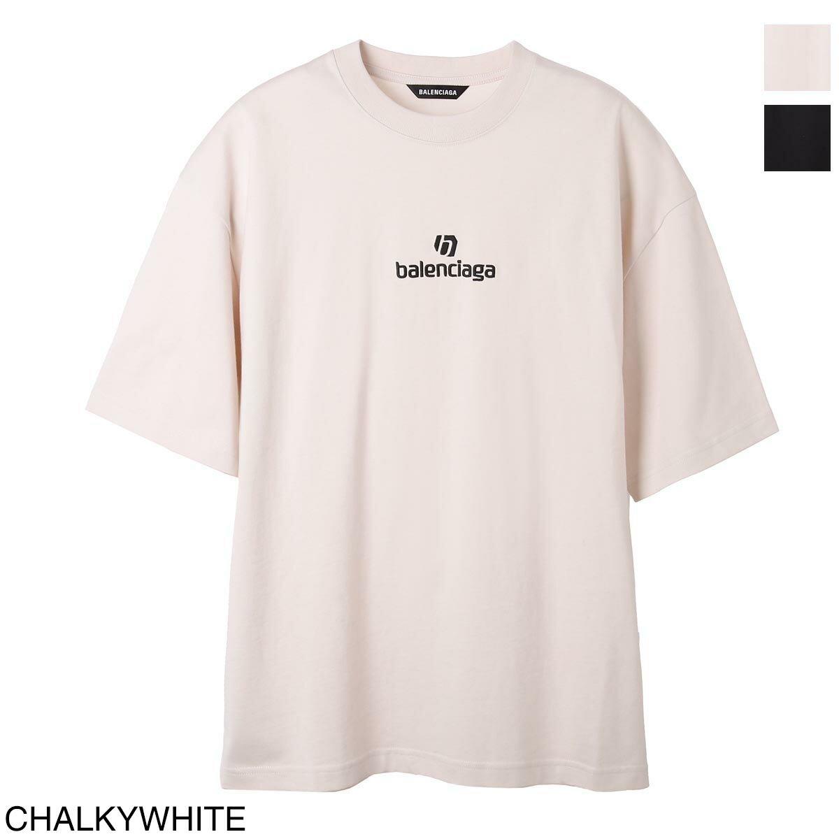 トップス, Tシャツ・カットソー  BALENCIAGA T 612966 tjvd9 9054 SPONSOR MEDIUM FIT T-SHIRT