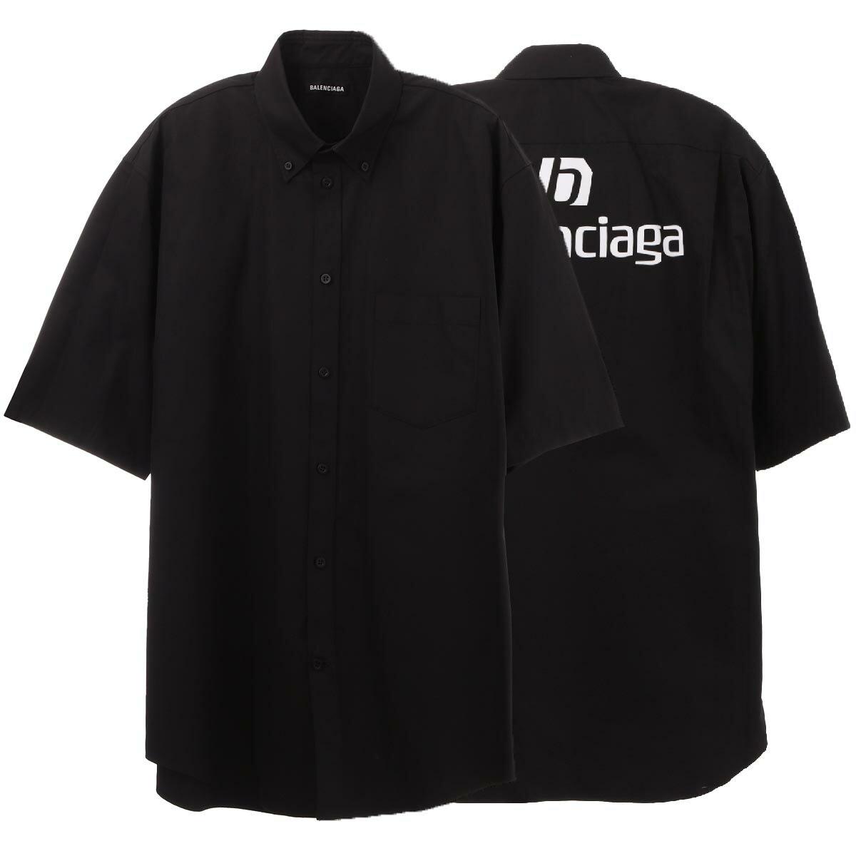トップス, カジュアルシャツ  BALENCIAGA 642292 tyb18 1000 SPONSOR