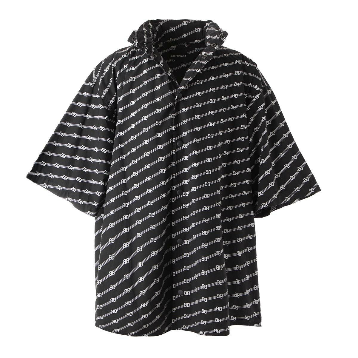 トップス, カジュアルシャツ  BALENCIAGA 622223 tils7 1070 WINDBREAKER SHIRT