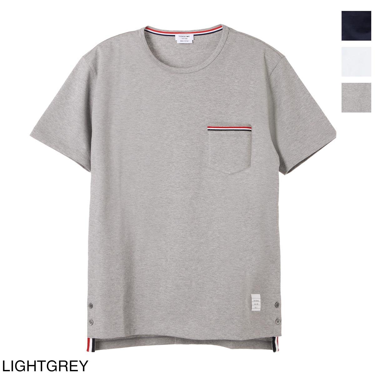トップス, Tシャツ・カットソー  THOM BROWNE. T mjs010a 01454 415 SS POCKET TEE IN MEDIUM WEIGHT JERSEY COTTON