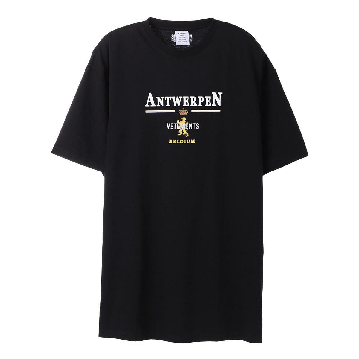 トップス, Tシャツ・カットソー  VETEMENTS T ue51tr430b black ANTWERP LOGO T-SHIRT