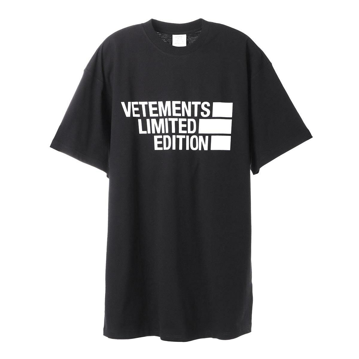 トップス, Tシャツ・カットソー 1 VETEMENTS T ue51tr810b black BIG LOGO LIMITED EDITION T-SHIRT