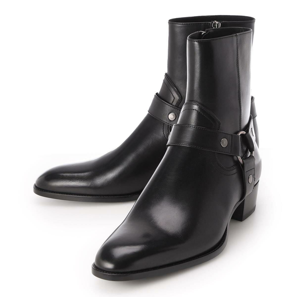 メンズ靴, その他  SAINT LAURENT 634225 1yl00 1000 WYATT HARNESS BOOTS2021AW