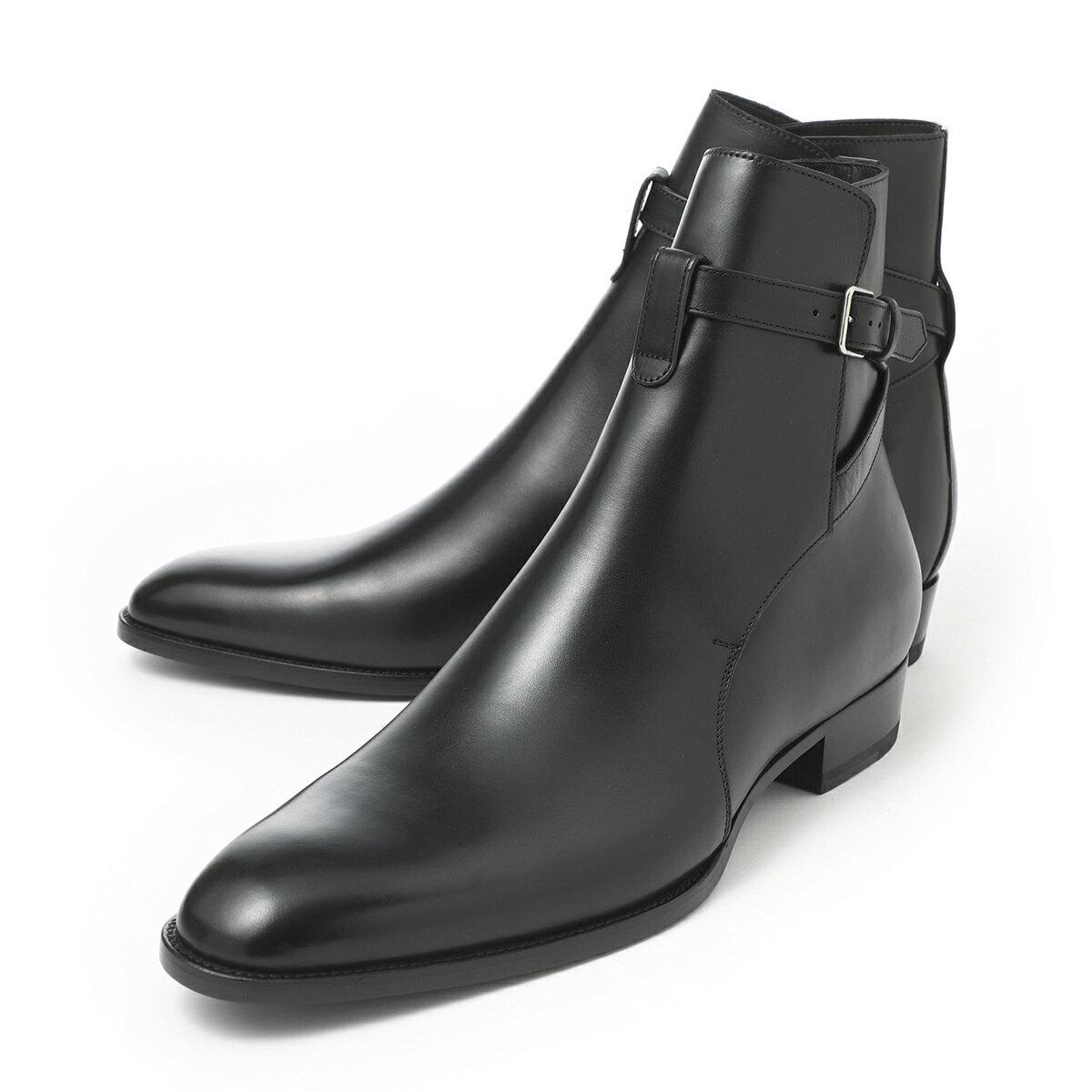ブーツ, その他  SAINT LAURENT 663414 1yl00 1000 WYATT 30 JODHPUR BOOTS2021AW