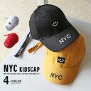 韓国子供服 キッズ 帽子 NYC キャップ ボックスロゴ 子供服 スナップキャップ SNAPBACK CAP ワッペン 刺繍 男の子 女の子 男児 女児 ジュニア こども服 韓国ファッション
