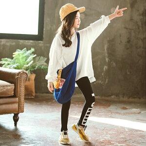 【送料無料】韓国子供服キッズセットアップビッグトレーナー上下セットレギンス女の子子供服ゆったりオーバーサイズプリントスウェットスエットガールズ女児ジュニアこども服韓国ファッション110cm120cm130cm140cm150cm160cm