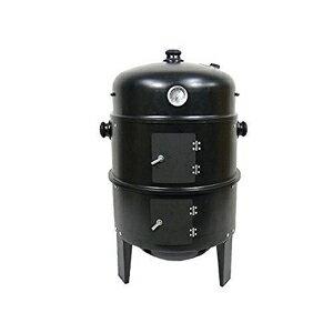 アウトドア燻製スモークドラム[BBQバーベキューグリルとスチーム調理もできる万能コンロ]【3in1BBQコンロPY8501】
