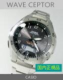 【7年保証】カシオ(CASIO)メンズ 男性用ソーラー電波腕時計WAVE CEPTOR【WVA-M640D-1A2JF】(国内正規品)