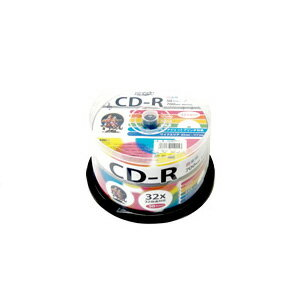 HIDISC 音楽用 CD-R 80分 700MB 32倍速対応 50枚 スピンドルケース入り インクジェットプリンタ対応 ワイドプリンタブル HDCR80GMP50/スポーツ/記念/撮影/録画/記録【10P03Dec16】