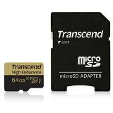 【ネコポス便送料無料】【正規国内販売代理店】トランセンド(Transcend) ドライブレコーダー向けMICRO SDHCカード 64GB TS64GUSDXC10V【10P03Dec16】