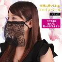 日本製 美酒に酔いしれるフェイスベール 洗える マスク レー