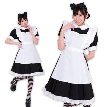 【A&T Collection】【リボンメイド・黒】 サイズM コスプレ イベント コスチューム 衣装 メイド パーティー 洗濯可