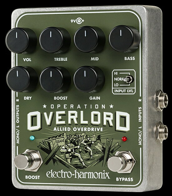 ギター用アクセサリー・パーツ, エフェクター Electro-Harmonix Operation Overlord Allied Overdrive KK9N0D18P