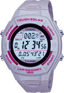 カシオ スポーツウォッチ ランニングウォッチ 5気圧防水 ソーラー デジタル レディース 腕時計(SD...