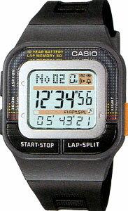 カシオ スポーツウォッチ 5気圧防水 ランニングウォッチ デジタル 腕時計(SDB-100J-1AJF海外版)レディース 1/100秒ストップウォッチ 60ラップ 10年電池 CASIO マラソン ランニング 時計 ランナー ウォッチ ランニングウオッチ