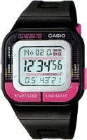 【スポーツウォッチ】カシオスポーツウォッチ5気圧防水長寿命10年電池搭載!ランニング腕時計(SDB-100J-1BJFの海外モデル)CASIOレディースサイズ