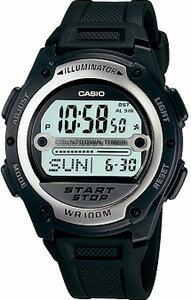 カシオ スポーツウォッチ 10気圧防水 腕時計(W09P-5206) 10年電池 LEDライト付き サ...
