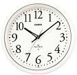 【送料無料】カシオ 電波時計 壁掛け時計 アナログ 掛け時計 アラビア数字 ホワイト 白(CL11FB03WHT) 秒針停止機能 LEDライト付き おしゃれなパールホワイト カシオ CASIO 電波時計 掛け時計