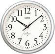【送料無料】カシオ 電波時計 壁掛け時計 アナログ 掛け時計 アラビア数字 シルバー 銀(CL11FB04SLV) 秒針停止機能 LEDライト付き カシオ CASIO 電波時計 掛け時計